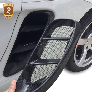Side Vents For Porsche 718 Boxster Cayman Body Kits Styling Side Air Vents Real Carbon Fiber Car Accessories image