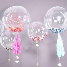1 adet 18/20/24/36 inç yüksek kalite şeffaf şeffaf Bobo balon şişme helyum hava balonu düğün doğum günü partisi dekor hediyeler
