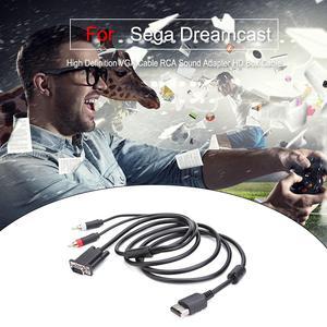 Image 3 - Kabel VGA o wysokiej rozdzielczości Adapter dźwięku RCA kabel HD Box dla Sega Dreamcast kabel VGA dla SEGA Dreamcast DC wysoka jakość