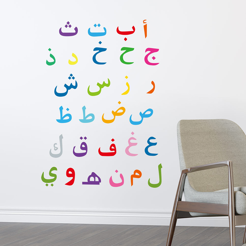 Image 5 - Muslim Words Decorative Islamic Wall Stickers For Home Decor  Living Room Decoration Mural PVC Wallpaper Characters Art DecalsWall  Stickers