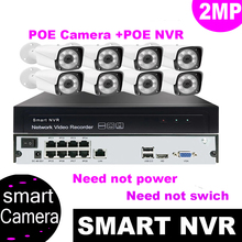8CH 1080P HDMI POE NVR Kit CCTV Security System 2.0MP H.265 IR Night Vision Outdoor IP Camera P2P Onvif Video Surveillance Sets