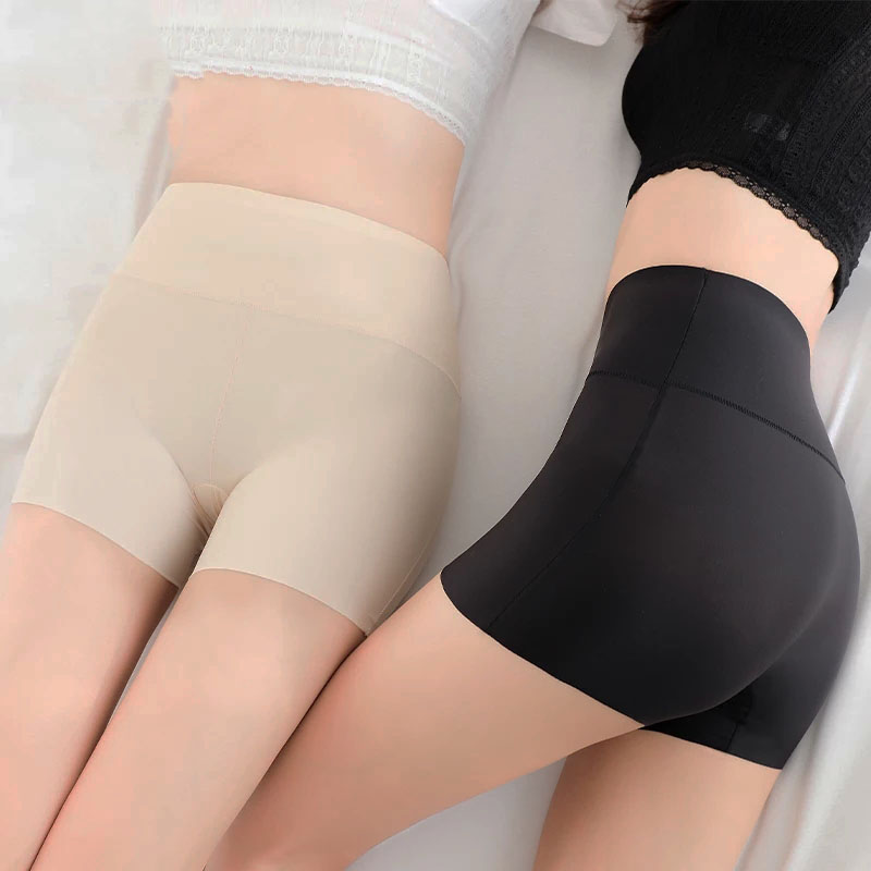 Women Safety Short Pants Seamless Nylon High Waist Panties Soft Anti Emptied Slimming Underwear Lace  Breathable Sexy Tights