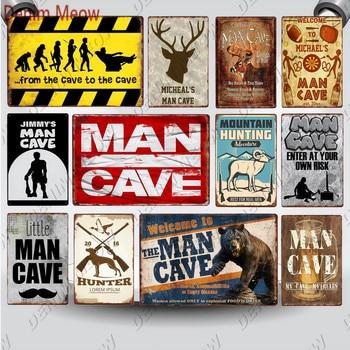 Man Cave Vintage Metal Plates