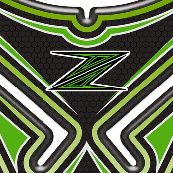 H2R Z1000SX наклейка на мотоцикл наклейки форма Танк Pad эмблема Z для Kawasaki Z125 Z250 Z300 Z400 Z650 Z750 Z800 Z900 Z1000 ABS
