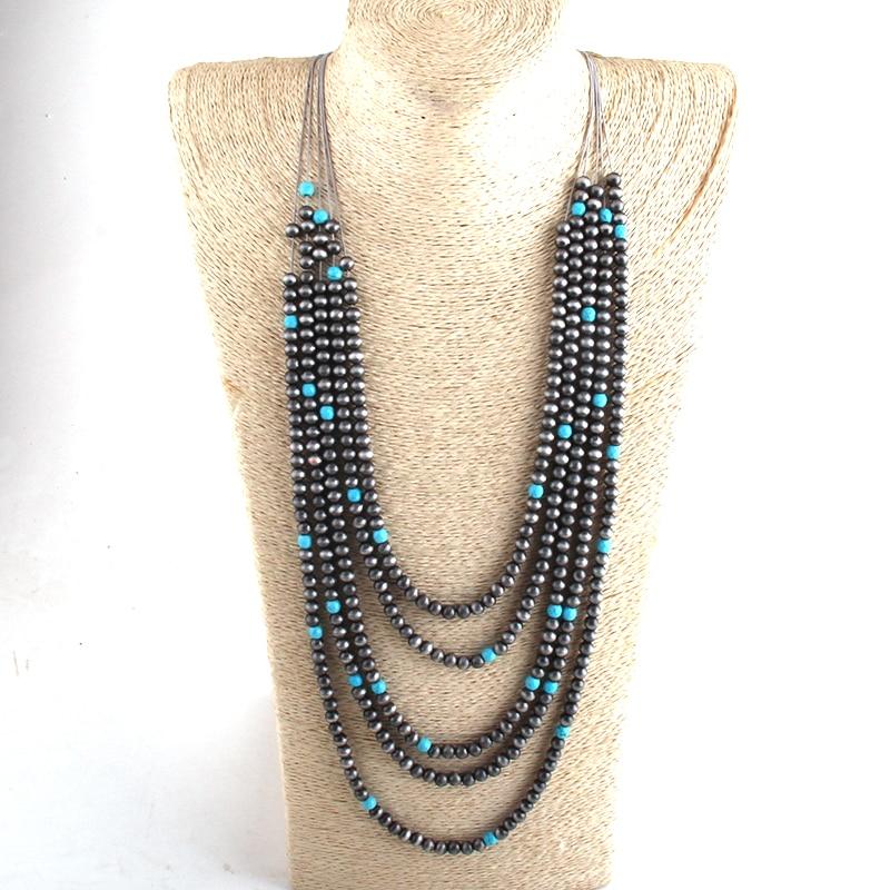 Модное богемное ювелирное изделие RH, многослойные бусины CCB, многожильные ожерелья, женское ожерелье в стиле бохо, подарок