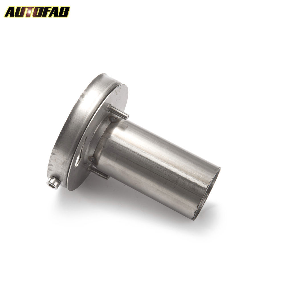 Cuque Universal Adjustable Round Silencer 4 Inch Exhaust Muffler Tip Removable Round Sound Silencer Stainless Steel Exhauster Pipe