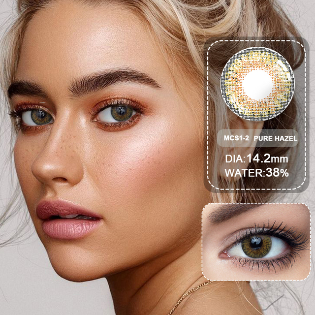 (Wholesale) Colored Contacts/Circle Lenses 2pcs/Pair Contact Lenses For Eyes Non Prescription Color Contact Lens With Free Case 5