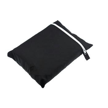 Patio deszcz śnieg pyłoszczelna czarne meble ogrodowe 210D z tkaniny Oxford do przechowywania torba duża odporna na kurz pokrowiec ochronny tanie i dobre opinie CN (pochodzenie) Furniture Pouch Nowoczesne