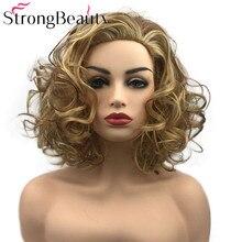 StrongBeauty Lockige Frauen Perücke Kurze Synthetische Wärme Beständig Perücken Frauen Täglichen oder Cosplay Haar