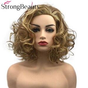 Image 1 - StrongBeauty מתולתל נשים פאה קצר סינטטי עמיד בחום פאות נשים יומי או קוספליי שיער