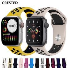 Спортивный ремешок для apple watch band 44 мм/40 мм apple watch 5 4 3 band iwatch band 5 42 мм/38 мм correa браслет ремень аксессуары для часов