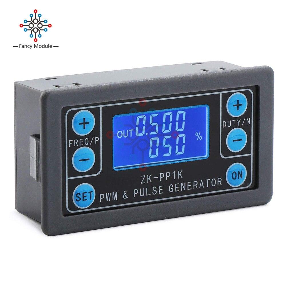 ZK-PP1K כפולה מצב LCD PWM מחולל אותות 1-ערוץ 1Hz-150KHz PWM דופק מחזור תדר מתכוונן כיכר גל גנרטור