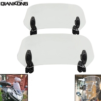 Airflow Adjustable Windscreen Wind Deflector Universal Motorcycle Windshield For Honda VFR 800 VTEC VFR 1200F 800F AFRICA TWIN
