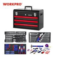 WORKPRO 408PC Home Repair Tool Set Metal Tool Box Set Hand Tools Home Tool kit