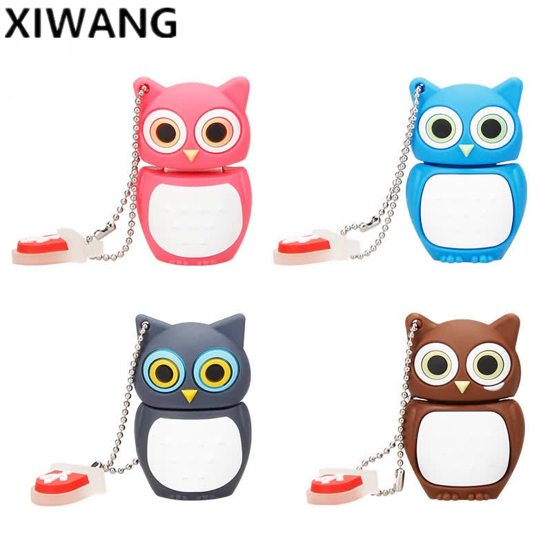 USB Flash Drive 64gb Cute Animal Cartoon Owl Usb 2.0 4GB 8GB 16GB 32GB 128GB Pen Drive Usb Memory Creative Pendrive Holiday Gift