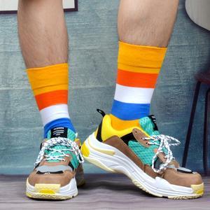 Image 3 - SANZETTI Calcetines de algodón peinado para hombre, calcetín, ropa estilo informal, 12 pares por lote