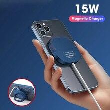 Cargador inalámbrico magnético para móvil, dispositivo de carga rápida Qi Mini de 15W para iPhone 12 Pro Max, adaptador USB C PD, cargador Magsafing Original