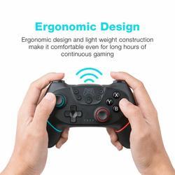Bezprzewodowy Bluetooth Gamepad dla przełącznika Pro przełącznika NS Pro kontroler do gier z 6-uchwyt osi dla przełącznik konsoli do telefonu
