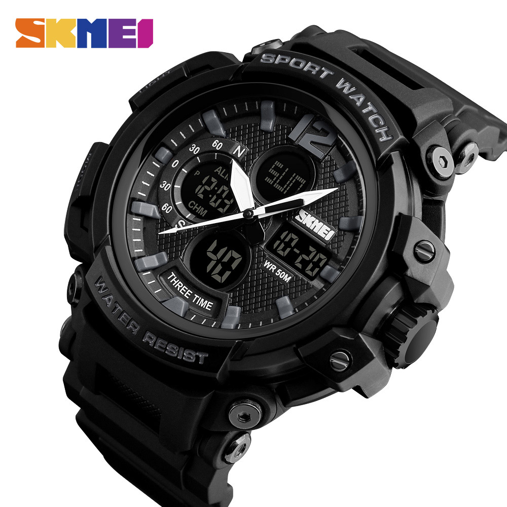 <font><b>SKMEI</b></font> <font><b>1343</b></font> Men Watch Waterproof Digital Fashion Watches Outdoor Sport Wristwatches Erkek Saat Fashion Clock Relogio Masculino image