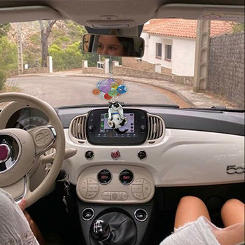 Ozdoby samochodowe Cat z kolorowymi balonami ozdoby samochodowe wisiorek kreatywny słodki kociak dekoracja do wnętrza samochodu dekoracja do samochodu ozdoby tanie i dobre opinie CN (pochodzenie) Inne Other