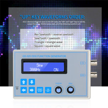 DC9V 1Hz-65534Hz DDS Function Signal Generator Sine Square Triangle Sawtooth Low Frequency LCD Display USB Cable