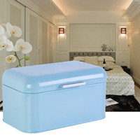 Acrylic Box Solid Color Retro Metal Bread Bin Box Large Capacity Kitchen Storage Container