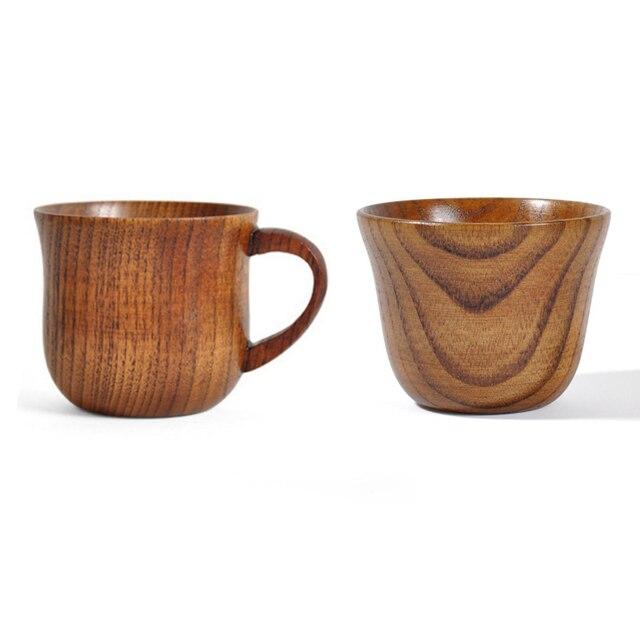 Natural Wood Cup Primitive Handmade Spruce Wooden Cup Breakfast Beer Milk Drinkware Green Tea Cup Water Coffee Mug 1