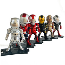 6pcs Avengers 4 Marve 10cml Iron Man Action Figure Children  Toys B668