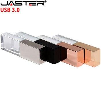 JASTER USB 3.0 Fashionable Crystal Style USB Flash Pen Drive USB 4GB 16GB 32GB 64GB Gift Pendrive cle usb (Over 10pcs Free Logo)
