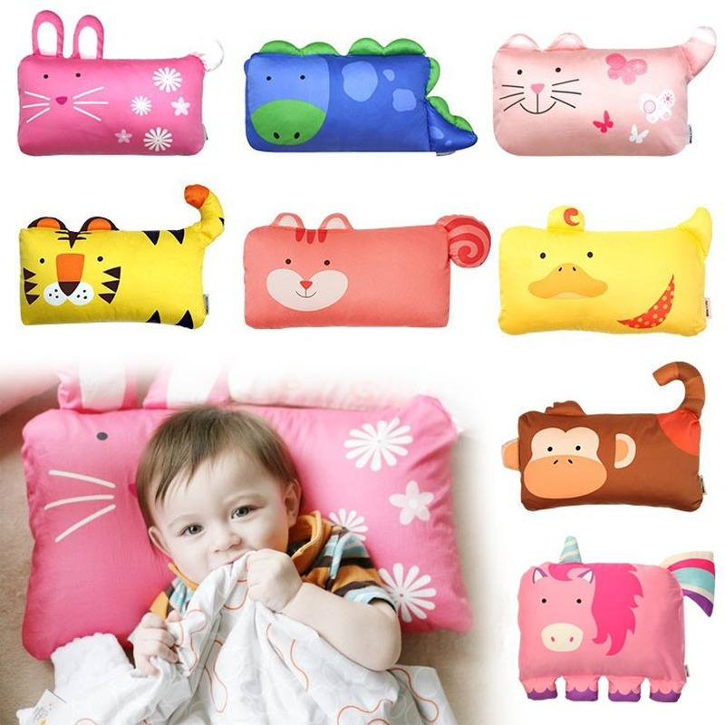 Baby Pillows Bedding Neck Support Kids Pillow Cartoon Cotton Baby Pillows Head Infant Shaping Baby Sleep Positioner Pillow