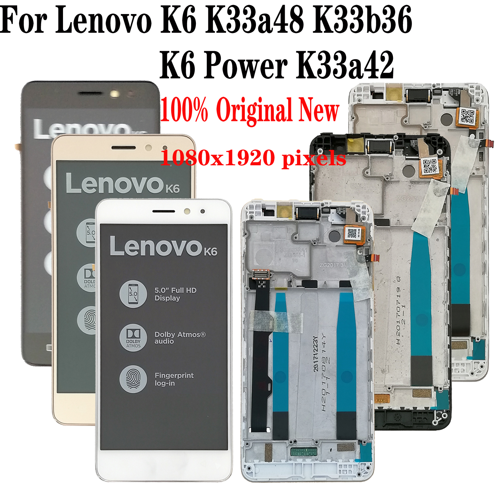 Shyueda 100% Oiginal New With Frame For Lenovo K6 K33a48 K33b36 / K6 Power K33a42 5.0