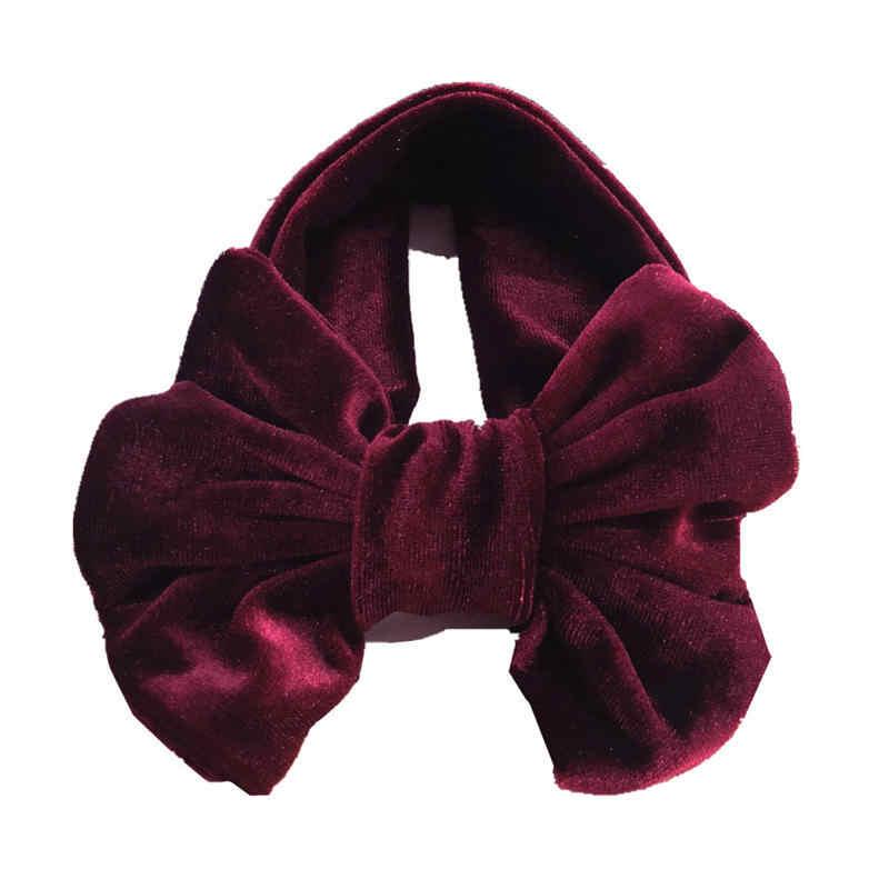Balleenshiy Cotton Co Giãn Trẻ Em Lớn Nơ Tóc Vàng Nhung Cho Bé Băng Nhẫn Mũ Trẻ Em Gái Phụ Kiện Tóc