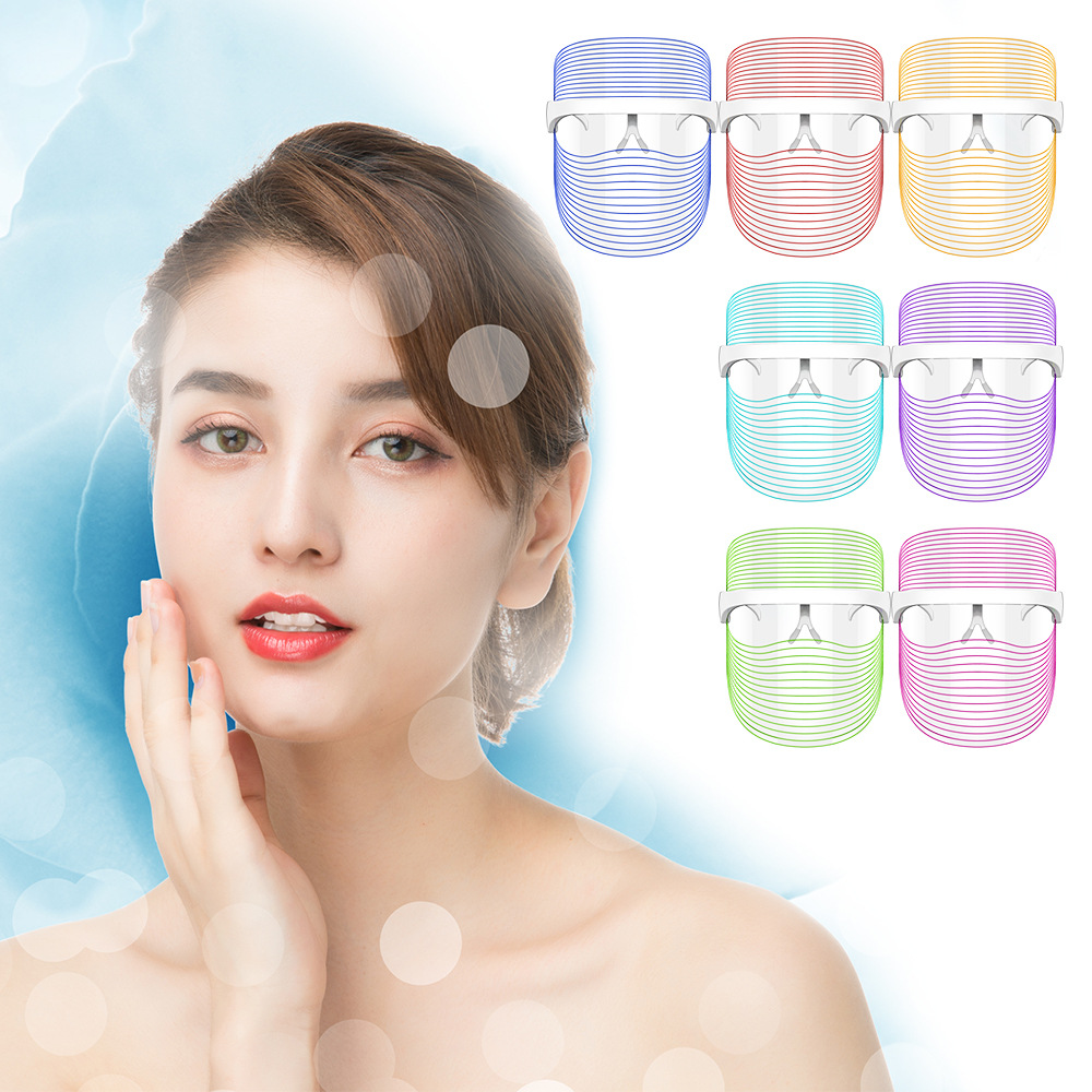 7 Colors LED Light Therapy Face Mask Photon Instrument Anti-aging Anti Acne Wrinkle Removal Skin Tighten Beatuy SPA Treatment