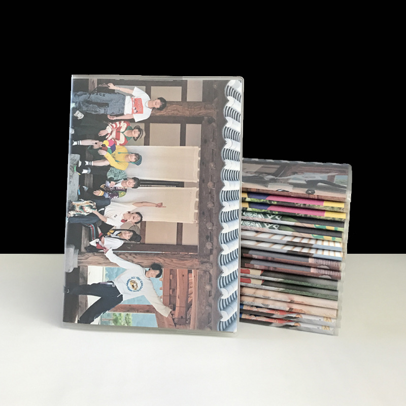 Kpop Bangtan Boys 2019 Summer Photo Album Sketchbook Diary Drawing Painting Graffiti Soft Cover Blank Paper Notebook Memo Pad