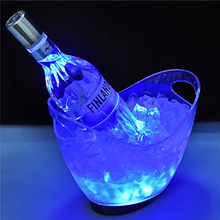 New Waterproof LED Ice Bucket Nightclub Bar Party Champagne Wine Bucket Transparent Light Wine Barrel 5 Color rechargable led ice bucket 5 liter illuminated party cooler hennessy mini rechargeable led ice bucket