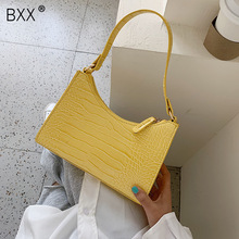 [BXX] Crocodile Pattern PU Leather Shoulder Bags For Women 2