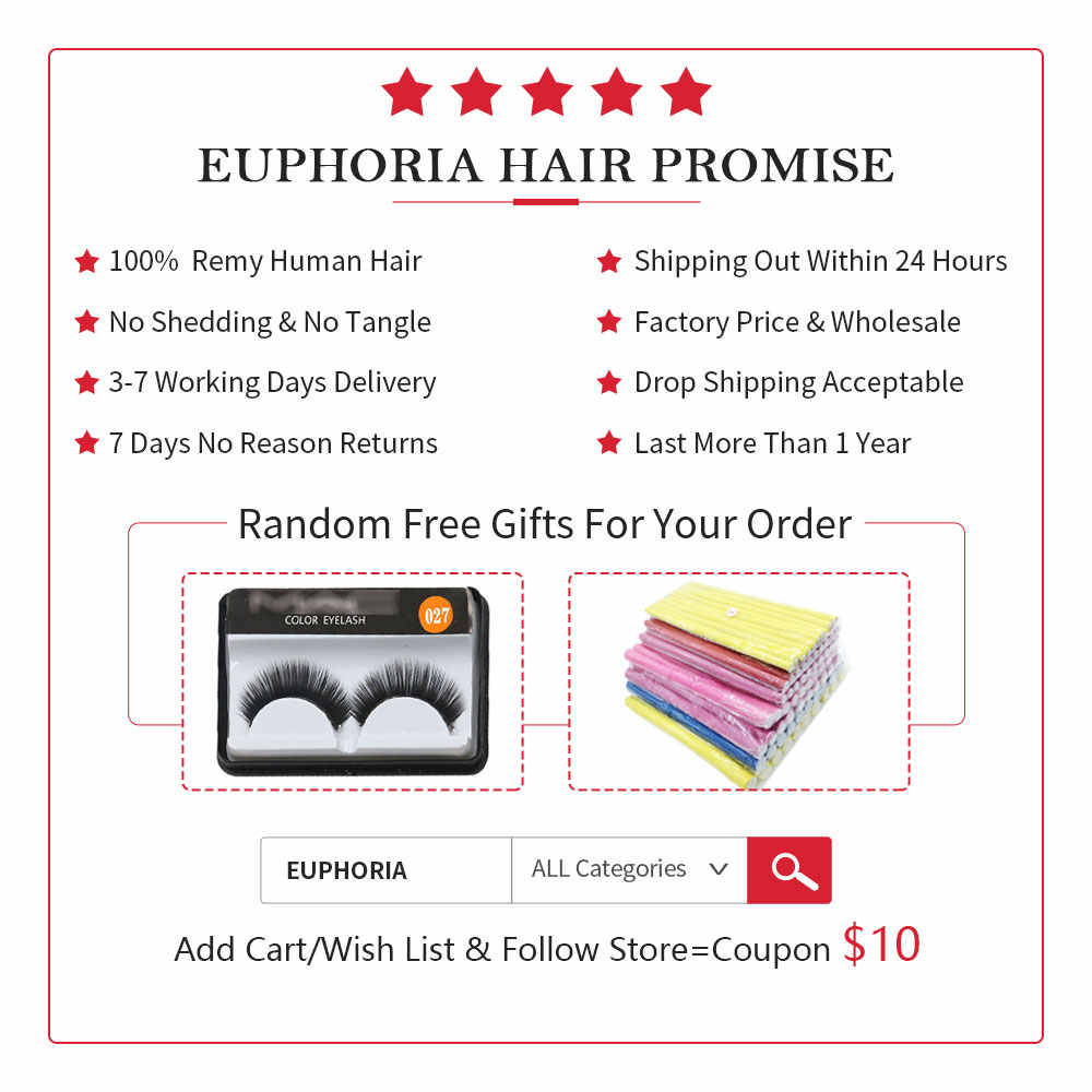 99J/Burgundy Red Color Straight Human Hair Weaves 2/3 Bundles With Lace Closure 4x4 EUPHORIA Brazilian Remy Hair Weft Extensions