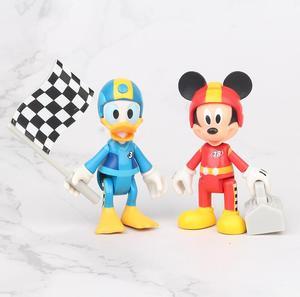 Image 5 - 7 pçs/set racing mickey, figuras de ação, brinquedos, brinquedo, menina, menino, presente de natal, 7 10cm
