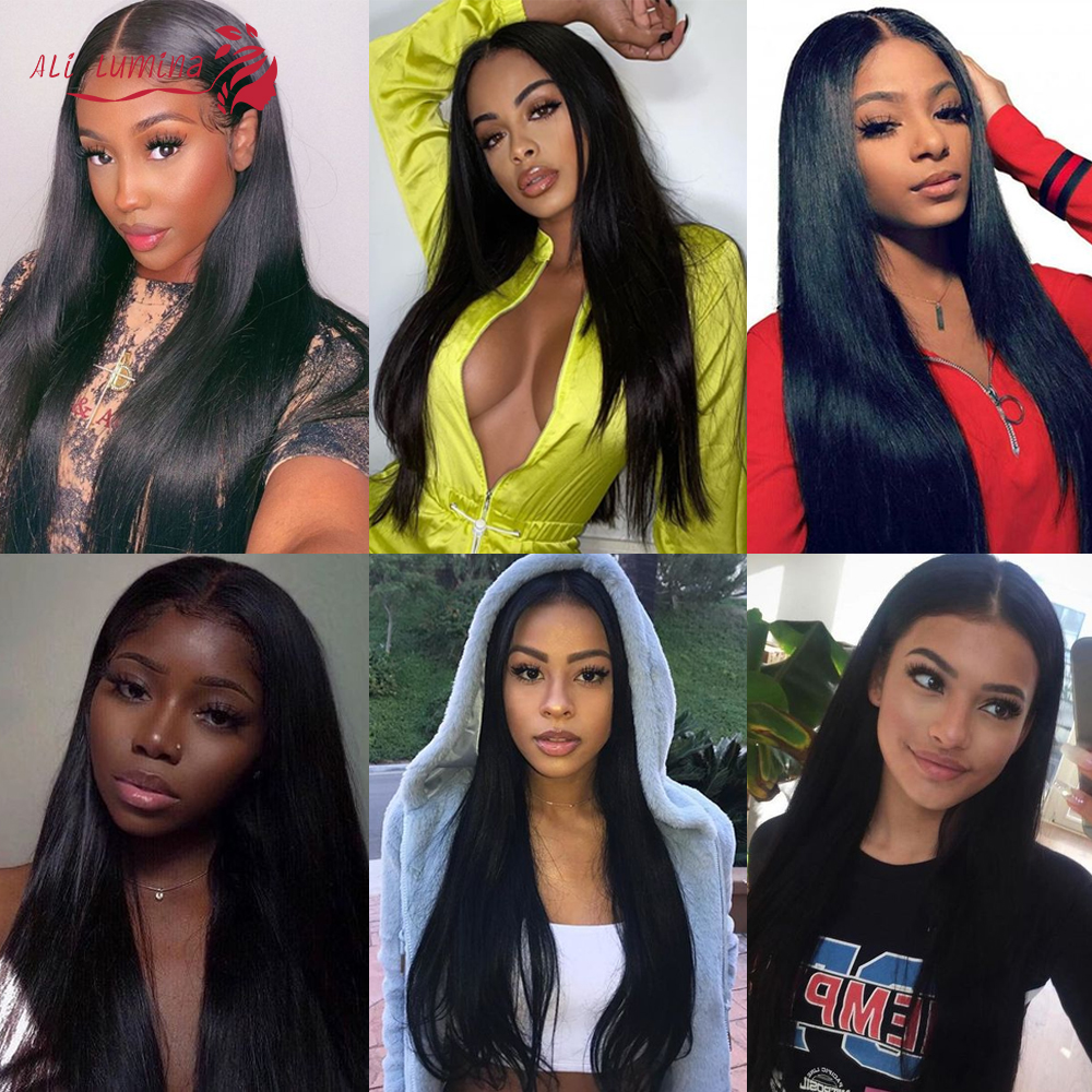 Straight  Wigs 13x4 4x4 Lace Front Wig Pre Plucked With Baby Hair 180% Density   Hair Lace Closure Wig 5