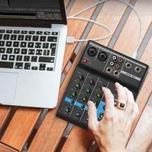 Профессиональный звуковой микшер 4 Каналы bluetooth микшерная
