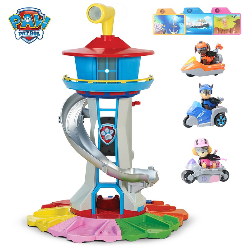 Paw Patrol Dog Toys Rescue Base Command Center Puppy Patrol Set Patrulla Canina Anime Action Figures Model Toy For Kid Boy Gifts