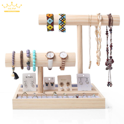 Earring Watch Display Stand Solid Wood Ring Bracelet Jewelry Rack Hanging  Necklace Hair Ring Head Rope Storage Jewelry Display