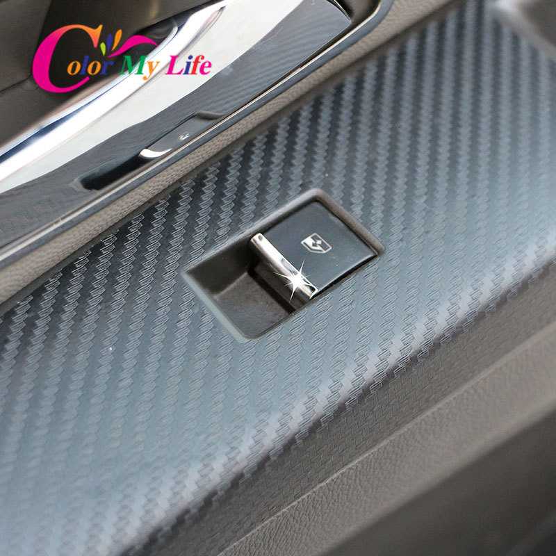 stainless window switch trim cover Trim 7pcs For Chevrolet TRAX 2014 2015 2016