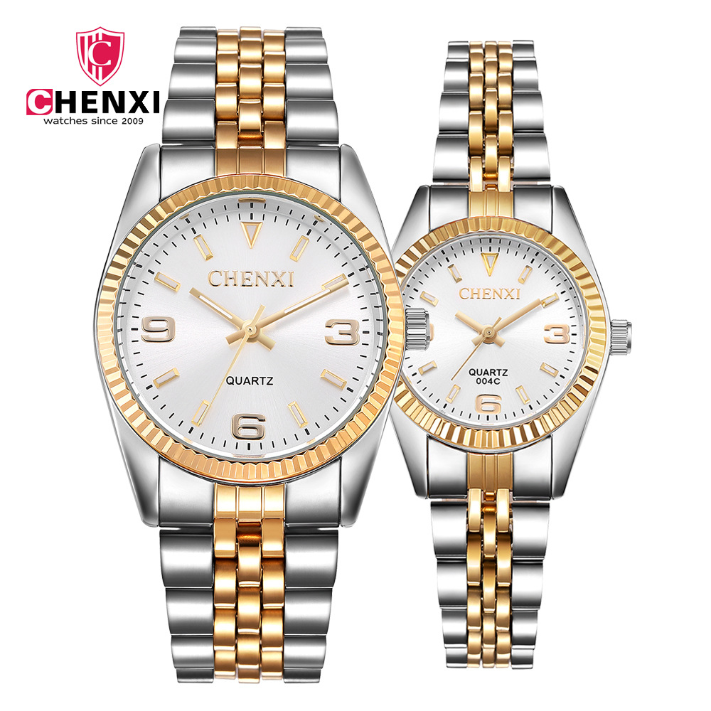 Top Luxury Brand CHENXI Watches Fashion Couple Watches Luxury Gold Watches Women Men Watches Reloj Hombre Relogio Feminino
