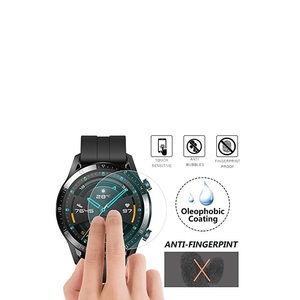 Image 2 - Vskey 100個強化ガラスhuawei社腕時計gt 2 46ミリメートルスクリーンプロテクターラウンドスポーツスマートウォッチD38.5mm保護フィルム
