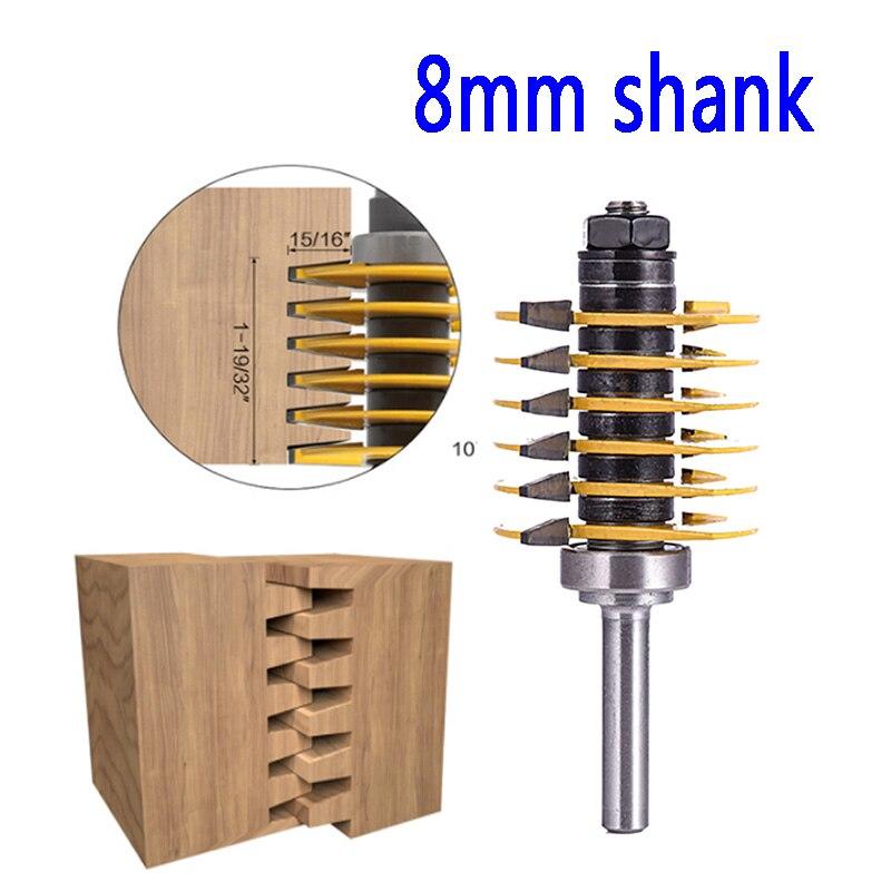 """Adjustable Finger Joint Router Bit 1//2/"""" Shank 1//2/"""" Wide Removable Blade"""