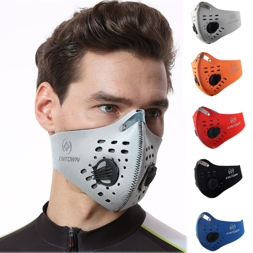 XINTOWN Reusable Washable Mask Cycling Facemask Sprot Mask Face Mask Facemasks masque lavable mascarilla deportiva training mask|Cycling Face Mask| - AliExpress