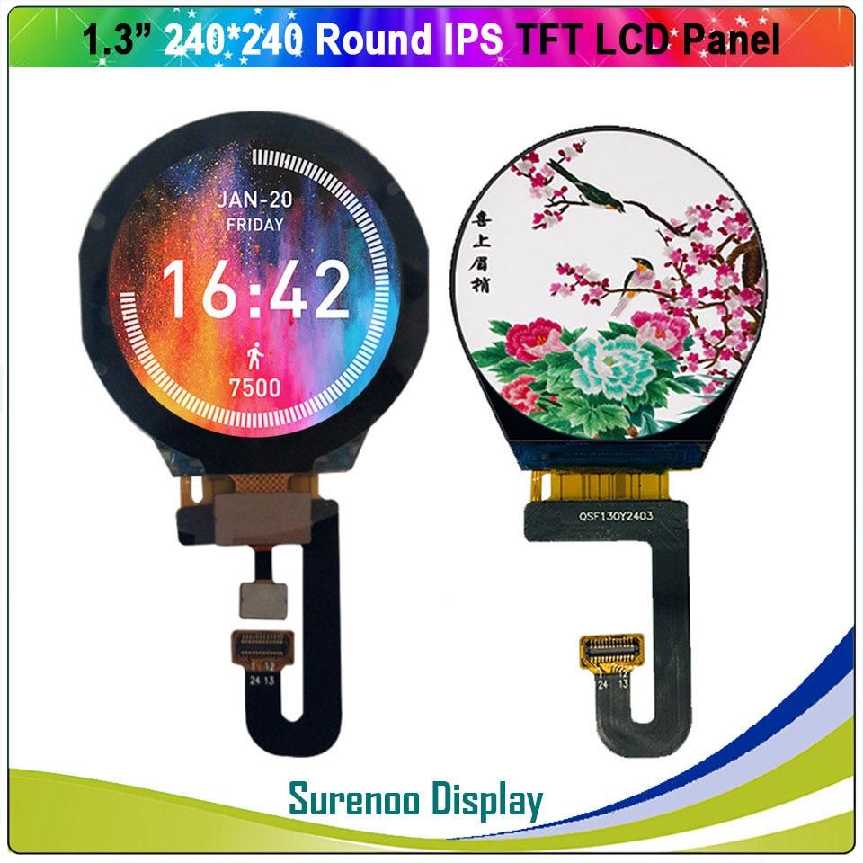 1,3 дюймовый круглый Круглый круглый 240X240 IPS серийный ST7789V TFT ЖК-дисплей модуль экран с емкостной сенсорной панелью