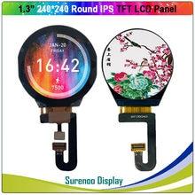 1.3 Polegada círculo redondo circular 240x240 ips série st7789v tft lcd módulo de exibição tela com painel de toque capacitivo