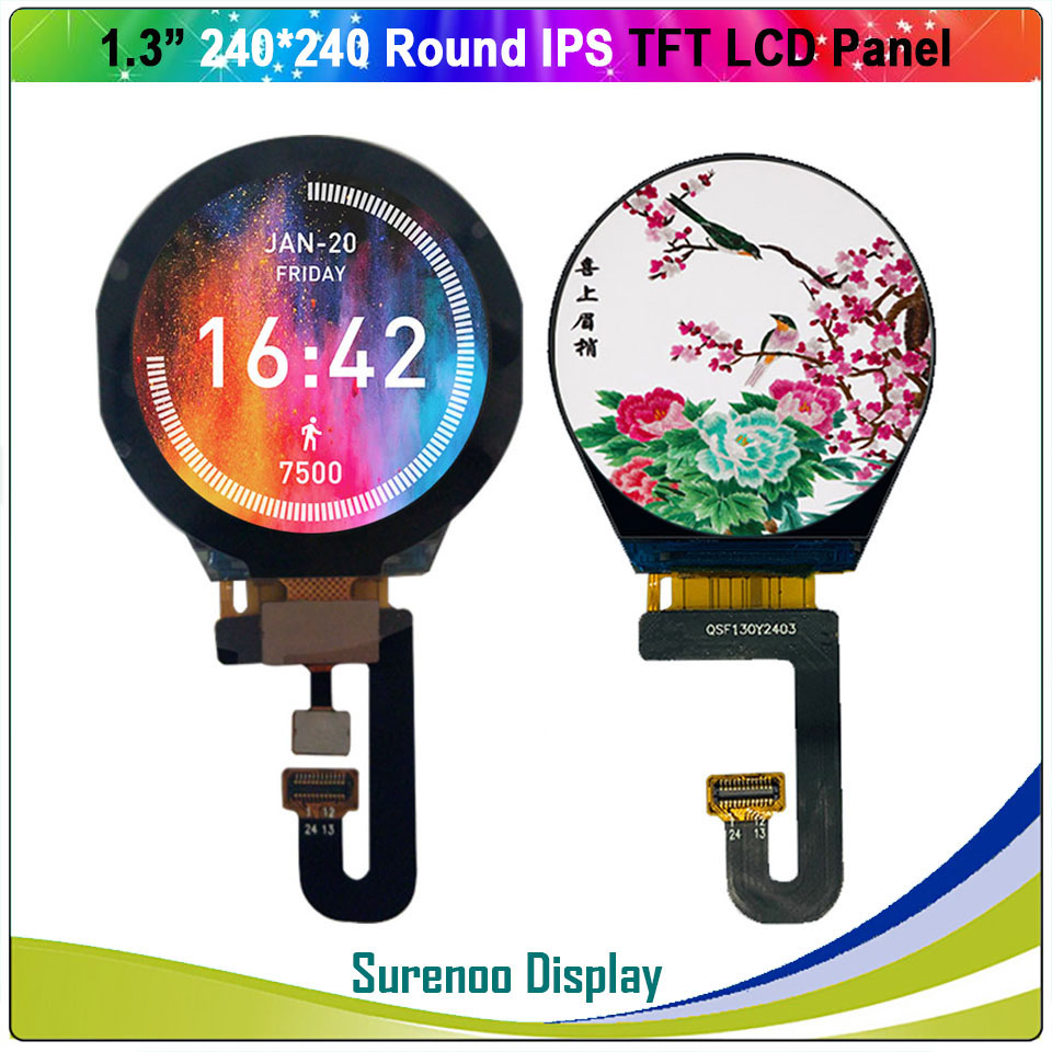 1.3 Inch Round Circle Circular <font><b>240X240</b></font> IPS Serial ST7789V TFT LCD <font><b>Display</b></font> Module Screen with Capacitive Touch Panel image
